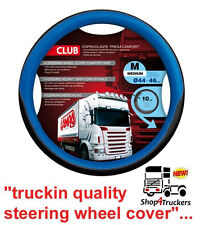 Steering wheel cover Delux Lorry Truck HGV blue 44 - 46cm ideal Scania Volvo DAF