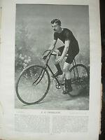 THE SPORTFOLIO PORTRAITS 1896 VINTAGE CYCLING PHOTOGRAPH PRINT C.G. THISELTON