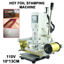 10*13CM Hot Foil Stamping Machine Automatic Leather Craft Press Embossing 110V