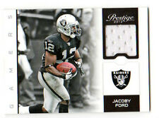 JACOBY FORD NFL 2012 PRESTIGE GAMERS MATERIALS (RAIDERS)