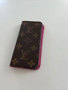 Genuine Louis Vuitton iPhone Folio case iPhone 7/8 Pink Leather Inside.