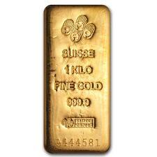 1 kilo Gold Bar - PAMP Suisse - SKU #73950