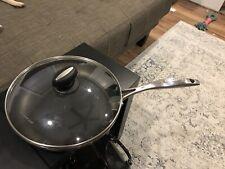 "Scanpan Ceramic Titanium CTQ Induction Fry Pan 11"" Denmark w/Lid Great Condition"