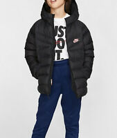 Kids Nike Sportswear Synthetic-Fill Padded Jacket Coat Hooded girls boys age 6-7