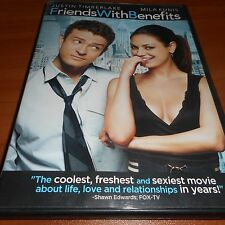 Friends with Benefits (DVD, Widescreen 2011) Justin Timberlake, Mila Kunis Used