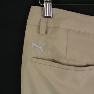 Puma Mens Performance Golf Pants Size 32x32 Flat Front Beige