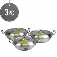 Aluminium Round Karahi / Pan / Wok Twin Handles With Lid 28,30,32 cm Ashley Cook