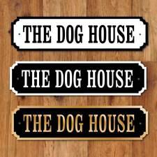 THE DOG HOUSE Door Nameplate, Vintage Design,  Robust Door Plaque, Man Cave Sign
