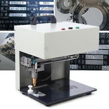 110v Table Electric Marking Machine Metal Label Printer Tags Name Plate Engraver