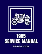 1985 General Motors Fisher Body Service Shop Repair Manual