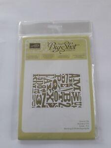 Stampin up ✿ Prägeform Buchstabensalat ✿ Big Shot Emossing Textured impressions