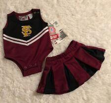NEW*Toddler Girls Florida State Seminoles/FSU Cheerleader Outfit Uniform 2PC Set