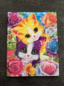 Lisa Frank Folder Playtime Kittens NEW 2 Pocket 3 Hole School Textured