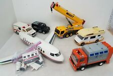 Playmobil Vehicles 6pc Lot w/ Pacific Airlines Police Recycling truck, Ambulance