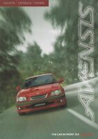 Toyota Avensis Saloon Liftback & Estate UK Market Brochure January 1998 26 Pages