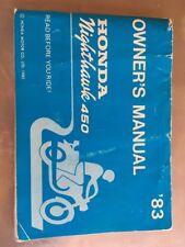 HONDA 450 NIGHTHAWK FACTORY OWNERS MANUAL 1983 Genuine OEM