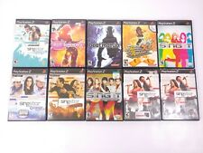 Lot Bundle of 10 PlayStaion 2 PS2 SingStar Sing It Dance Revolution Groove