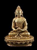 Budda Amitabha Soprammobile Tibetano Rame Divinità Qualità 78mm Nepal 26681