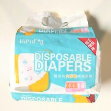 10-Pack Disposable Female Dog Diapers XXS for Small Dogs and Puppies