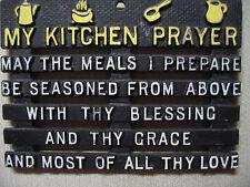 Vintage Metal My Kitchen Prayer Hanging Plaque