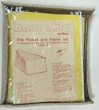 Vtg New Staco Hang Amp File Folder And Frame Set Commercial Grade 12 Files Steel