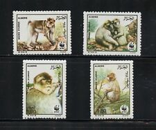 P082 Algeria 1988 monkeys apes fauna WWF 4v. MNH