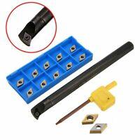 S12M-SDUCR07 12mm Lathe Inner Turning Tool Boring Bar + 11pcs DCMT0702 Inserts