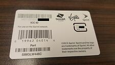 NEW Nano SIM Card - SIMGLW446C / CZ2144LWC
