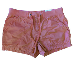 Style Co Women Rose Gold Solid Drawstring Waist Petite Length Shorts Size PM