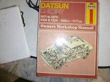 Haynes Owners Workshop Manual. Datsun Cherry 1971-1976