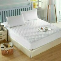 Extra Deep Quilted Mattress Protector Fitted Bed Cover Quilted Pillow Protector