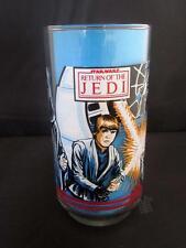 Original 1983 Burger King Vintage Star Wars Drinking Glass with Luke Skywalker