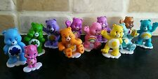 CARE BEARS CAKE TOPPERS set of 12 PLASTIC FIGURES TOYS birthday party bags