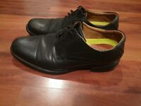 Florsheim Comfortech Ortholite Mens Leather Cap Toe Oxford Shoes Black Size 8.5