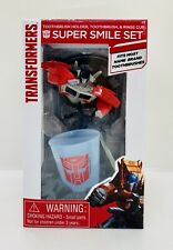 Transformers Super Smile 3 Piece Bathroom Set Toothbrush Holder & Rinse Cup