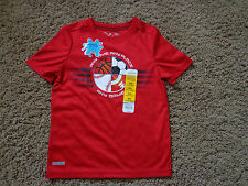 JUMPING BEANS brand boy's sz 4 NWT red play cool sports shirt w/moisture wicking