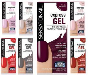 SensatioNail Express Gel Nail Polish  New  Boxed Choose your Shade