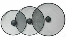 Calidad Sartén Splatter Protector de pantalla cubierta de malla negro Sartén redonda 28cm