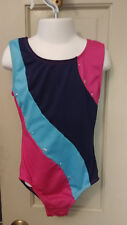 Girls 7/8 7 - 8 Multi Colors Tank Gymnastic Dance Leotard w/ Inserts n Studs