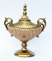 """17.50/""""H Roseate Palace Decorative Handcrafted  Vase Urn Bowl Center Piece"""