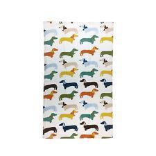 MULTI DACHSHUNDS SAUSAGE DOGS BANDANAS WHITE 100% COTTON BATH TOWEL 70X120CM