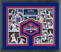 """Chicago Cubs 2016 World Series Photo Collage (Size: 12.5"""" x 15.5"""") Framed"""