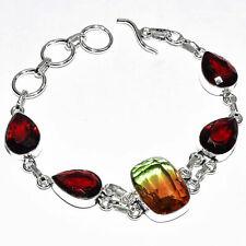 "Bi-Color Tourmaline Gemstone 925 Silver Jewelry Bracelet 7-8"""