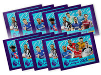 10x Panini Premier League 2021 Sticker Collection Packs (10 Sticker Packs)