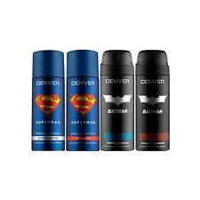 Denver Deodorant Spray Combo - Superman Strength & Power & Batman Knight Warrior