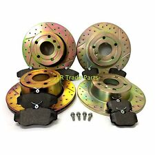 LAND ROVER DISCOVERY 2 TD5 PERFORMANCE DRILLED BRAKE DISCS & BRAKE PAD KIT SET