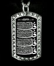 Four Qul  Muslim Pendant Cubic Necklace with FREE Chain 4 Qul Pendant