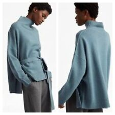 French Connection Size L 14 16 18 Blue Wool Reba Knit Long Sleeved JUMPER £99