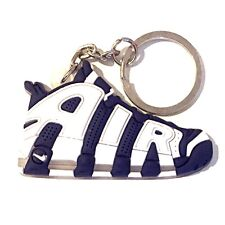 NEW AIR MAX MORE UPTEMPO OLYMPIC NAVY BLUE SUPREME SNEAKERS SHOES KEY CHAIN RING