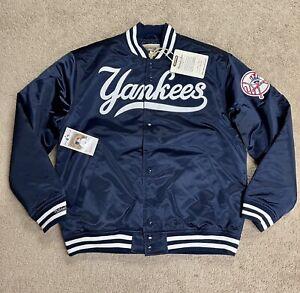 100% Authentic Vintage NY Yankees Mitchell & Ness 1999 Classic Satin Jacket sz M